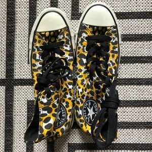 High top, yellow leopard CONVERSE